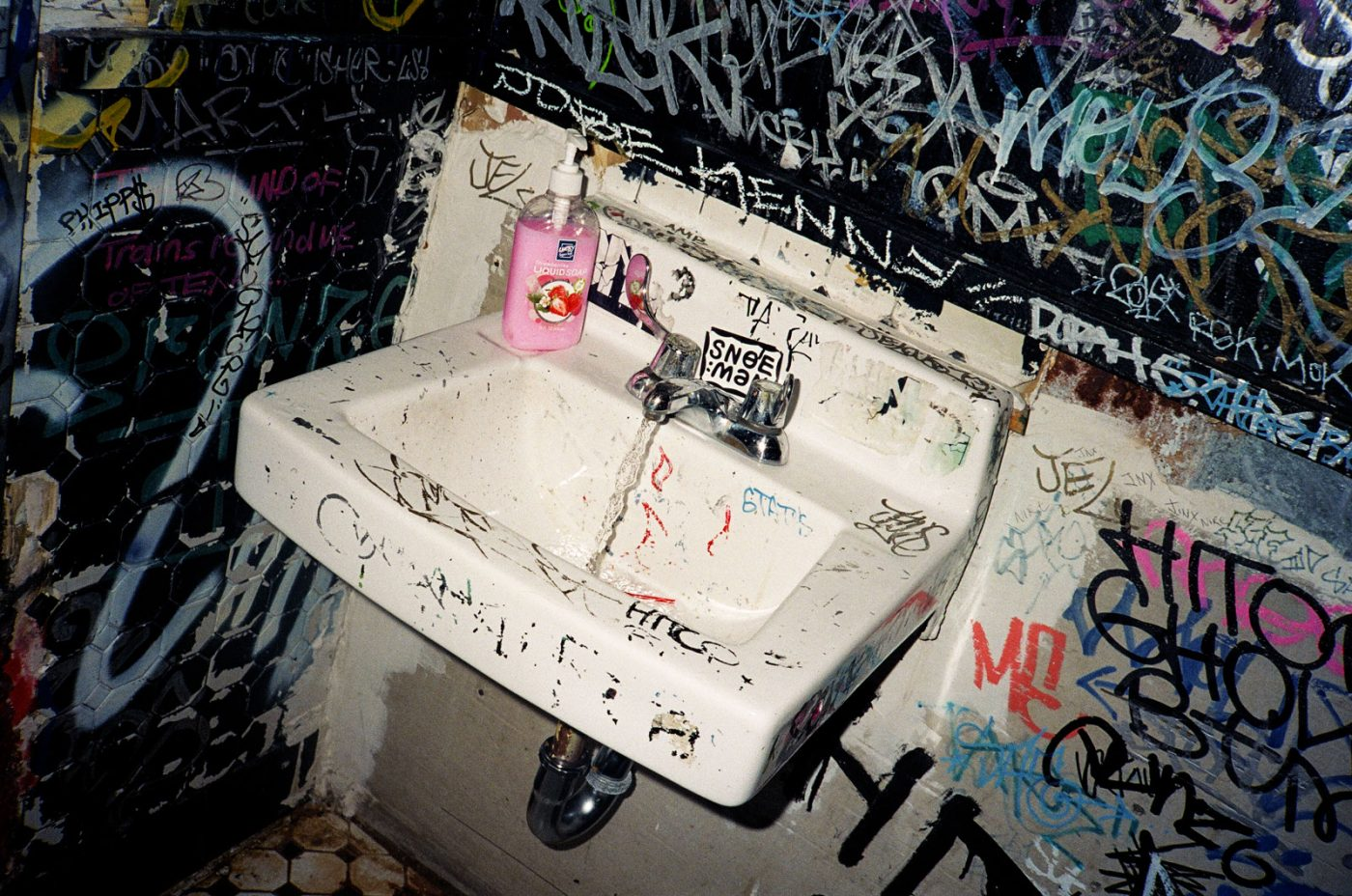 Melisande Blis for Death Before Digital - Graffiti-Bathroom